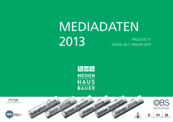 PDF: Mediadaten 2013 - Recklinghaeuser Zeitung