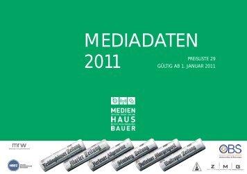 MEDIADATEN 2011 - Recklinghaeuser Zeitung
