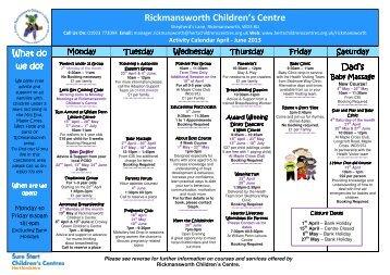 April - June 2013 PDF.pdf - Hertfordshire Children's Centres