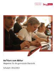 Wegweiser für die gymnasiale Oberstufe 2012/2013