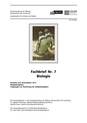 Fachbrief Biologie Nr. 7 - Bildungsserver Berlin - Brandenburg ...
