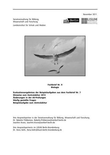 Fachbrief Biologie Nr. 8 - Bildungsserver Berlin - Brandenburg ...
