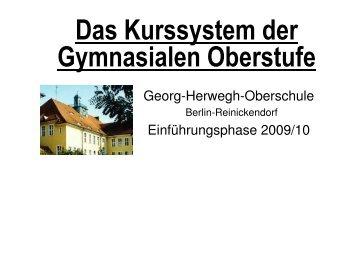 Das Kurssystem der Gymnasialen Oberstufe - Georg-Herwegh ...