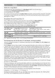 Beuth Hochschule Bestandteile, Orte und Termine dieser LV SS13 ...