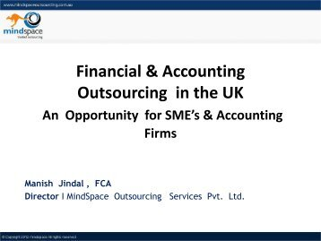 Outsourcing Accounting Services to India - Mindspace UK