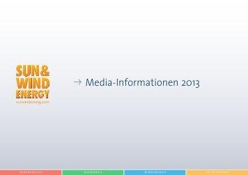 Mediadaten SUN WIND ENERGY 2013.pdf - BVA Bielefelder Verlag