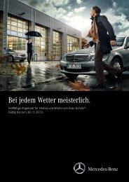 Bei jedem Wetter meisterlich. - Mercedes-Benz AUTO-SCHOLZ