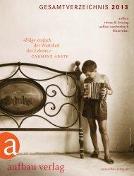 gESAMTVERZEICHNIS 2013 - Aufbau Verlag