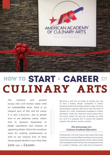 How to Start a Career in Culinary Arts