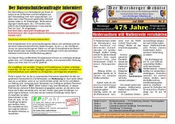 6. Jahr 2. Ausgabe Seite 1-8 2009-07-16-B.cdr - Herzberger ...