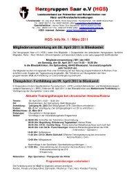 Info Nr. 1 / März 2011 Mitgliederversammlung am 09. April 2011 in ...