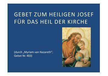 (Microsoft PowerPoint - Gebet zum heiligen Josef f ... - Herzmariens.de