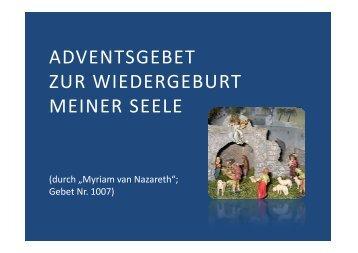 (Microsoft PowerPoint - 1007 Adventsgebet zur ... - Herzmariens.de