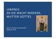 (Microsoft PowerPoint - 375 Lobpreis an die Macht ... - Herzmariens.de