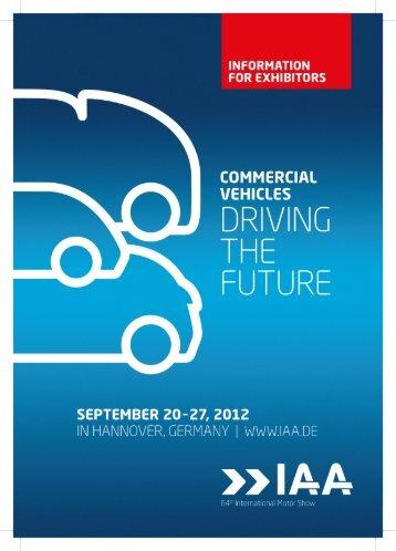 Information for exhibitors - IAA Presse-News der Aussteller