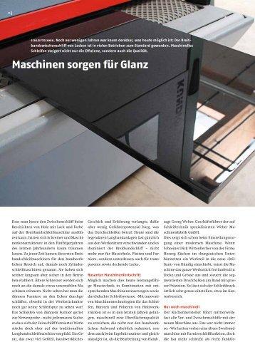 Maschinen sorgen für Glanz - HERZOG Küchen AG