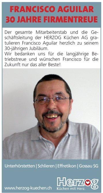 francisco aguilar 30jahre firmentreue - HERZOG Küchen AG