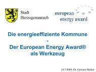 Vortrag über die Aktivitäten und Erfolge im Rahmen des eea - Stadt ...
