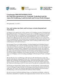 Gemeinsame PRESSEINFORMATION der Stadt Herzogenaurach ...