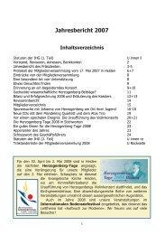 Jahresbericht 2007 - Heinrich von Herzogenberg, Komponist