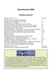 Jahresbericht 2008 - Heinrich von Herzogenberg, Komponist