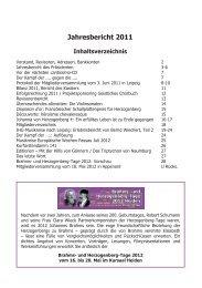 Jahresbericht 2011 - Heinrich von Herzogenberg, Komponist