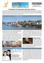Musikreise Passau Festspiele Europäische Wochen - Heinrich von ...
