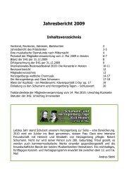 Jahresbericht 2009 - Heinrich von Herzogenberg, Komponist