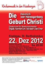 Geburt Christi - Heinrich von Herzogenberg, Komponist