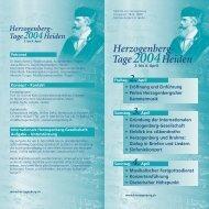 Den detaillierten und bebilderten Faltprospekt der Herzogenberg ...