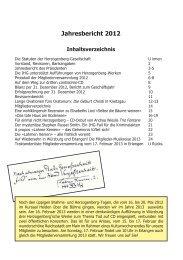 Jahresbericht 2012 - Heinrich von Herzogenberg, Komponist