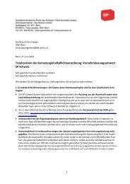Totalrevision der Kernenergiehaftpflichtverordnung ... - SP