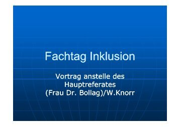 Fachtag Inklusion