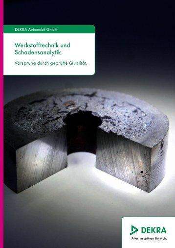 Broschüre Werkstofftechnik und Schadensanalytik - Dekra