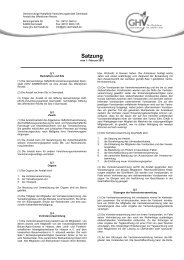 Satzung GHV DARMSTADT 2013