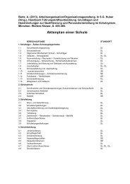 Aktenplan einer Schule