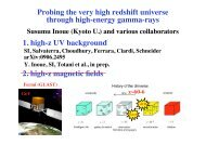 Probing the very high redshift universe through high-energy ... - LUTh
