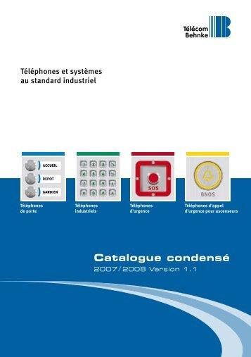 Catalogue condensé