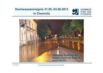 Vortrag von Bürgermeister Herr Runkel zum ... - Chemnitz