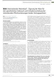 BGH: Internationaler Warenkauf - Eignung der Ware für ... - DLA Piper