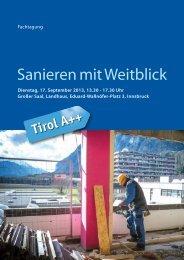 Sanieren mit Weitblick - Energie Tirol