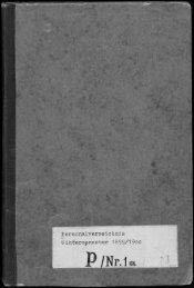 Personalverzeichnis Wintersemenster 1899/1900