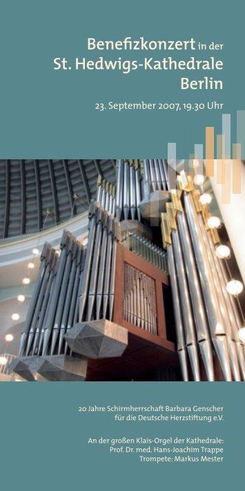 Benefizkonzertin der St. Hedwigs-Kathedrale Berlin - Deutsche ...