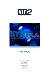 syntax Manual - Vir2 Instruments
