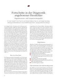 Fortschritte in der Diagnostik angeborener Herzfehler - Deutsche ...