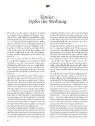 Kinder: Opfer der Werbung - Deutsche Herzstiftung eV