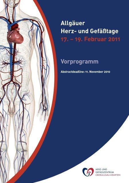 Allgäuer Herz- und Gefäßtage 17. – 19. Februar 2011 Vorprogramm