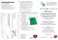 Herzens- Angelegenheiten Vortragsreihe 2010 - Deutsche ...