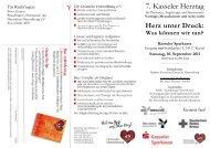 7. Kasseler Herztag - Deutsche Herzstiftung eV