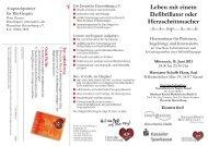 Leben mit einem Defibrillator oder Herzschrittmacher - Deutsche ...